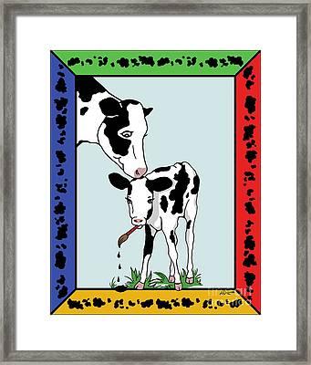 Cow Artist Cow Art II Framed Print by Audra D Lemke