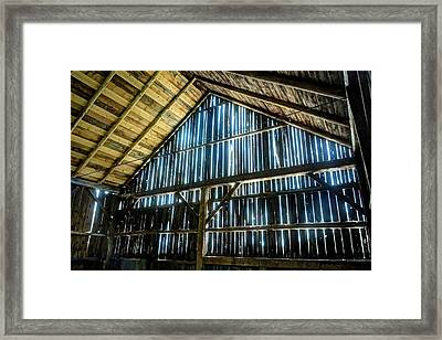 Cow Barn Framed Print