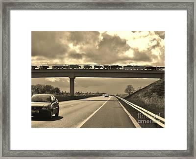 Cow Bridge  Framed Print by Michelle O'Neill