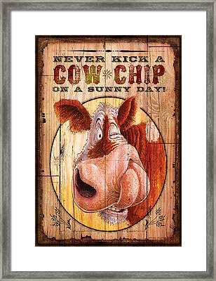 Cow Chip Framed Print