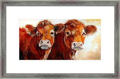 Cow Cow Framed Print
