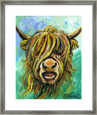 Cow Face 101 Framed Print by Linda Mears