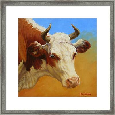 Cow Face Framed Print