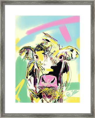 Cow- Happy Cow Framed Print