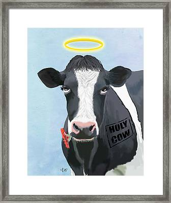Cow Holy Cow Framed Print