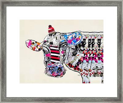 Cow In New York Framed Print by Bri B