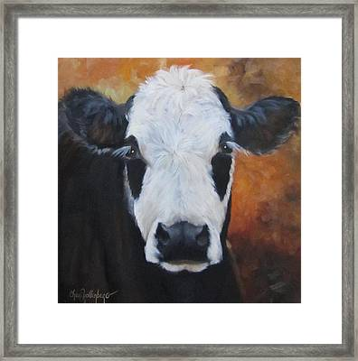 Cow Painting - Tess Framed Print