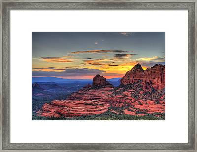 Cow Pies Sunset Framed Print