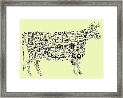 Cow Print Framed Print by Heather Applegate
