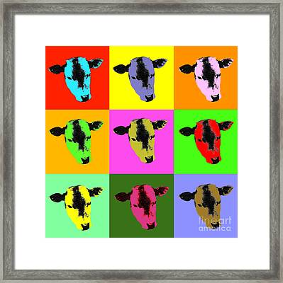 Cow Pop Art Framed Print