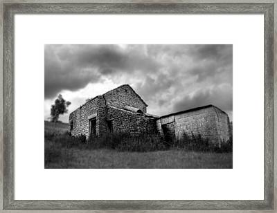 Framed Print featuring the photograph Cow Shed by Stewart Scott