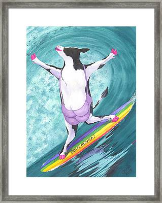 Cowabunga Framed Print by Catherine G McElroy