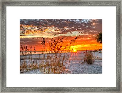 Cowan Road Sunset Framed Print