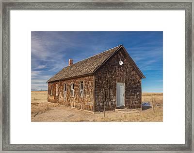 Cowans School Lincoln County Colorado Framed Print