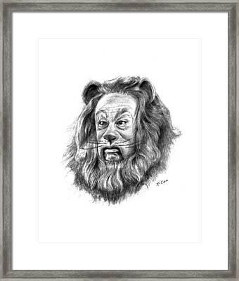 Cowardly Lion Framed Print