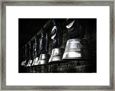 Cowbells Framed Print by Ryan Wyckoff