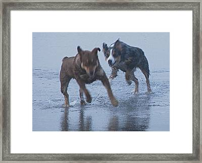 Cowboy And Blue Framed Print