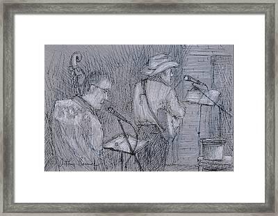Cowboy Band Framed Print by Arthur Barnes