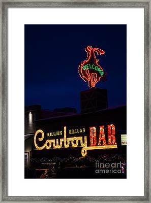 Cowboy Bar Framed Print