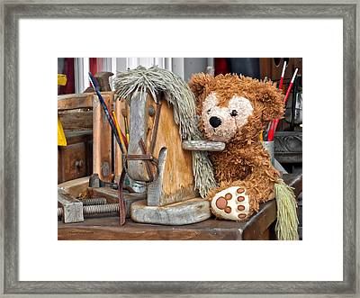Framed Print featuring the photograph Cowboy Bear by Thomas Woolworth
