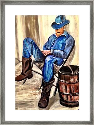 Cowboy Blue Framed Print by Melanie Wadman