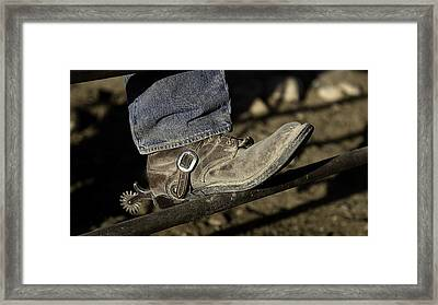 Cowboy Boots And Spurs Framed Print