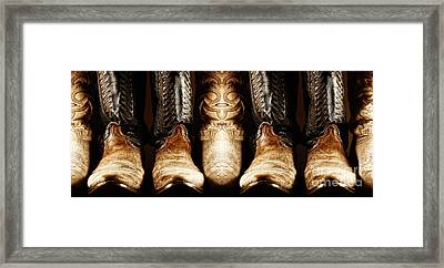 Framed Print featuring the photograph Cowboy Boots Composite by Lincoln Rogers