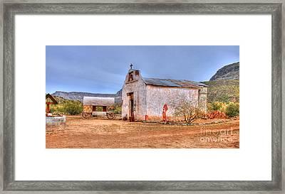 Cowboy Church Framed Print