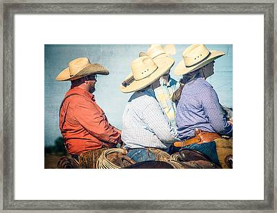 Framed Print featuring the photograph Cowboy Colors by Steven Bateson