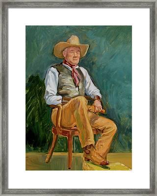Cowboy Dan Framed Print by Dominique Amendola