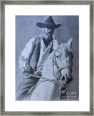 Cowboy Framed Print by David Ackerson