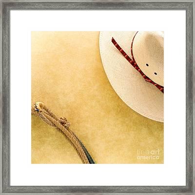 Cowboy Decor Framed Print