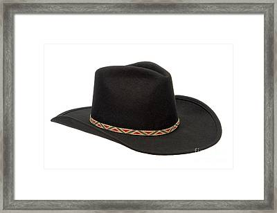 Cowboy Felt Hat Framed Print