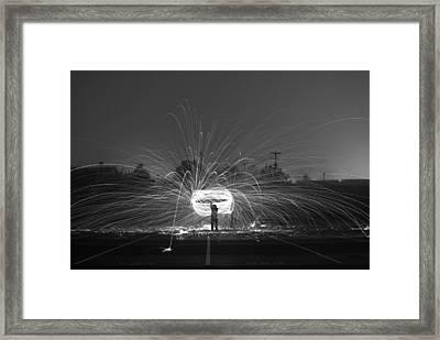 Cowboy Fire Lasso   # Framed Print