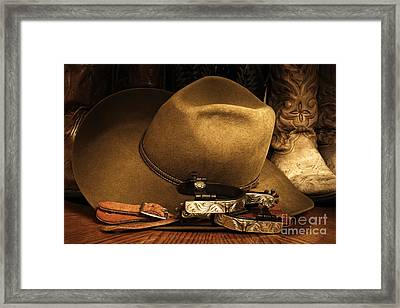 Framed Print featuring the photograph Cowboy Gear by Lincoln Rogers