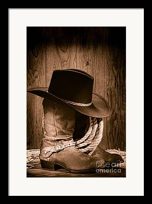 Old Hat Framed Prints