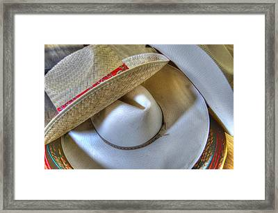 Cowboy Hats Framed Print