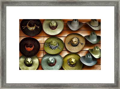 Cowboy Hats Framed Print by Camille Lopez