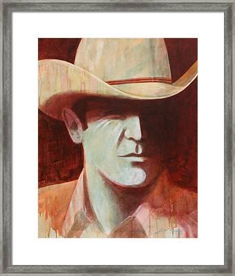 Cowboy Framed Print by J W Kelly