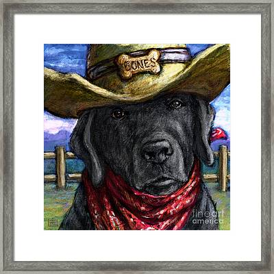 Cowboy Lab - Black Framed Print