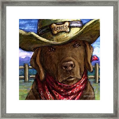Cowboy Lab - Chocolate Framed Print