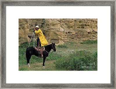 Cowboy Photographer Framed Print