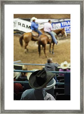 Cowboy Rodeo Competition At Oklahoma Framed Print