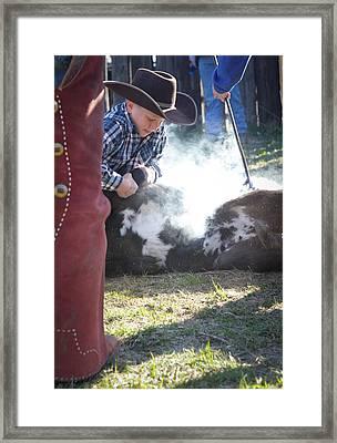 Cowboy School Framed Print