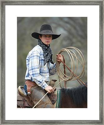 Cowboy Signature 13 Framed Print by Diane Bohna