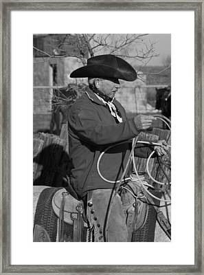 Cowboy Signature 14 Framed Print by Diane Bohna