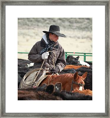 Cowboy Signature 9 Framed Print by Diane Bohna