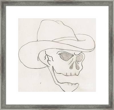 Cowboy Skull Framed Print by Scott Williams