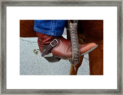Cowboy Swagg Framed Print by Kelly Kitchens