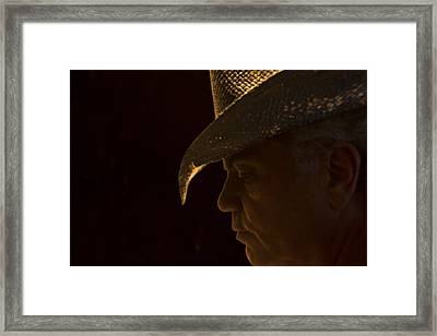 Framed Print featuring the photograph Cowboy-the American Icon That Disappeared Into History----------- by Renee Anderson